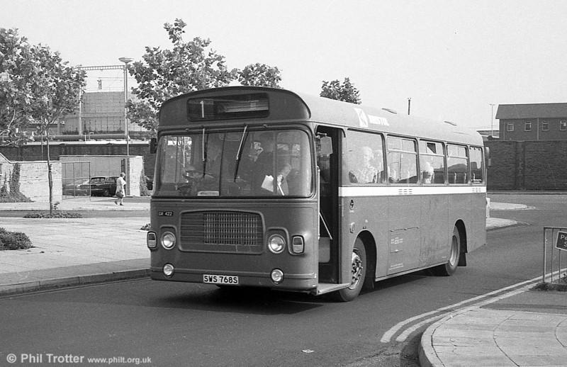 Bristol 422 (SWS 768S) ,a Bristol LH6L/ECW  B43F on hire to SWT at Swansea.