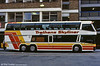 Seen in profile at Victoria is Trathens 61 (BDV 861Y) a Neoplan Skyliner.