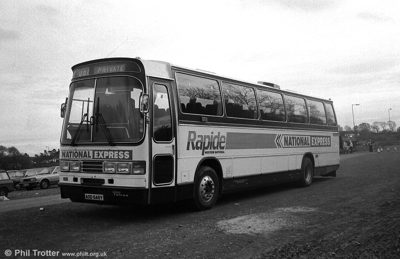 2353 (AOD 646Y) was a 1982 Dennis Falcon/Duple C47Ft used on National Express 'Rapide' services.