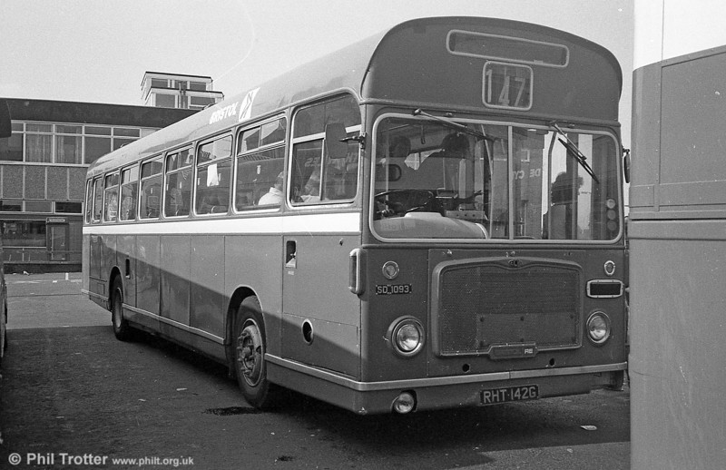 Bristol RELL6L/ECW B53F 1093 (RHT 142G) on hire to South Wales at Neath.
