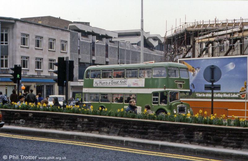 Another unidentified Bristol FLF6G/ECW H38/32F in Bristol City Centre.