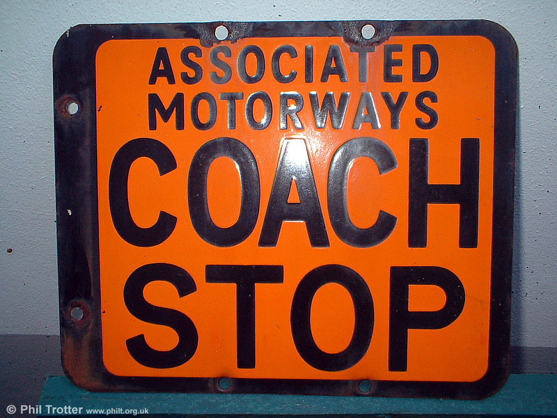 Another piece of coaching memorabilia - an Associated Motorways stop flag.