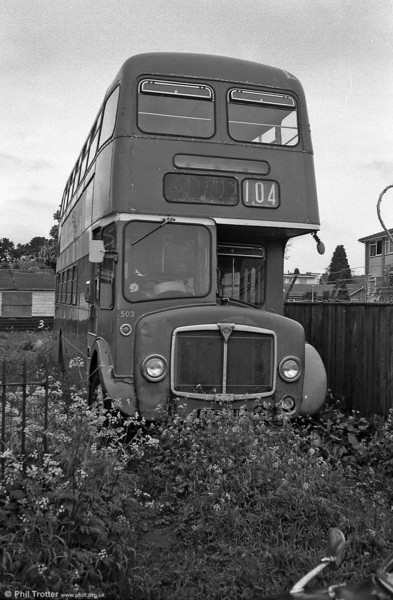 Exactly where this was taken is forgotten, but it's former Devon General 1964 AEC Regent V 2D3RA/Willowbrook H39/30F 503 (503 RUO), possibly near Exeter...?