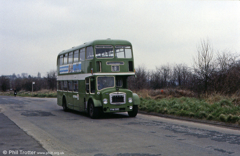 Bristol FLF6G/ECW H38/32F 7253 (FHW 158D). This vehicle lives on at Bristol and is preserved in Bristol Industrial Museum.