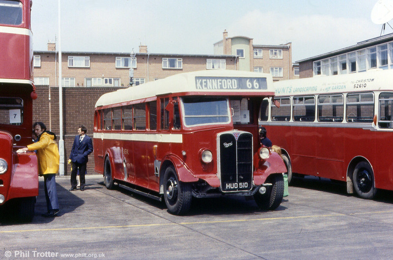 Devon General SR510 (HUO 510), 1948 AEC Regal I O6625520/Weymann B35F.