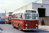 Devon General SN 839 (XTA 839), a 1958 Albion Nimbus with Willowbrook B31F body at Exeter. These were purchased for service in the narroe lanes of Devonshire.