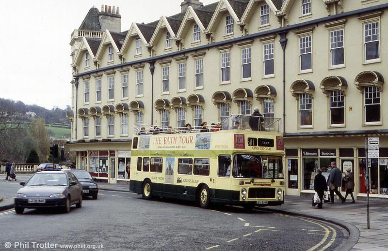Seen on a Bath tour in Badgerline days is Bristol VRT/ECW O43/27D 5048 (LEU 256P).