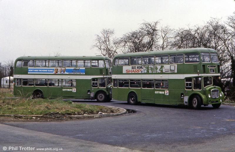 1966 Bristol FLF6Gs/ECW H38/32F 7257 and 7259 (FHY 127/9D).