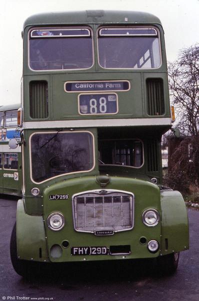 1966 Bristol FLF6G/ECW H38/32F 7259 (FHY 129D).