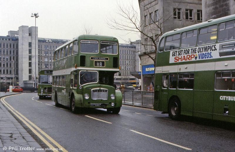 1965 Bristol FLF6G/ECW H38/32F 7236 (EHT 858C) in Bristol City Centre.