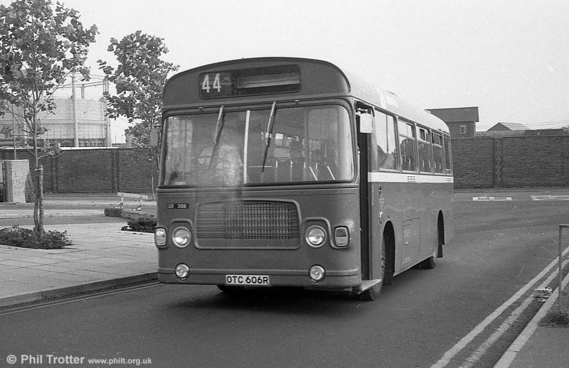 Bristol 398 (OTC 606R), a Bristol LH6L/ECW  B43F on hire to SWT at Swansea.