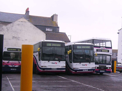 First 20439 (M439FHW), 20437 (M41FTC) & 34509 (JHU909X), Weymouth, 19th April 2008