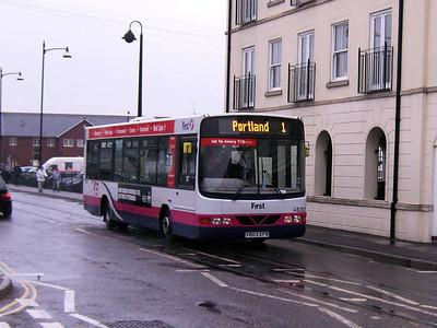 First 48203 (V803EFB), Weymouth, 19th April 2008