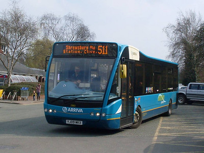 Arriva Midlands North 2980 (YJ09MKX), Whitchurch, 25th March 2011