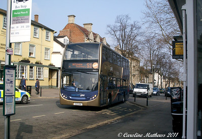 Stagecoach 15615 (OU10BGK), Witney, 28th March 2011