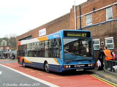 Stagecoach 35015 (YN51VJA), Worksop, 23rd December 2008
