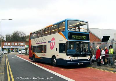 Stagecoach 18124 (YN04KGJ), Worksop, 23rd December 2008