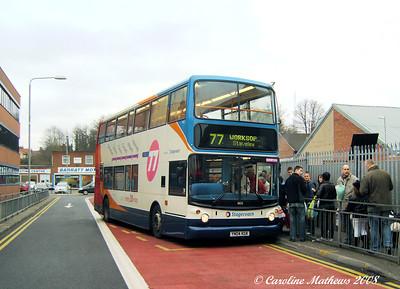 Stagecoach 18125 (YN04LGL), Worksop, 23rd December 2008