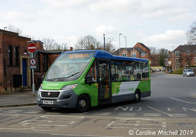 Nottinghamshire County Council SG68YXW, Worksop Bus Station, 1st April 2019