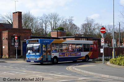 Stagecoach 35141 (YN56HBK), Worksop Bus Station, 1st April 2019