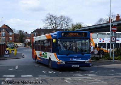 Stagecoach 35136 (YN56HBD), Worksop Bus Station, 1st April 2019