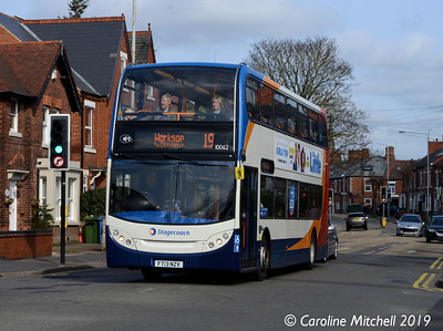 Stagecoach 10062 (FT13NZV), Watson Road, Worksop, 1st April 2019