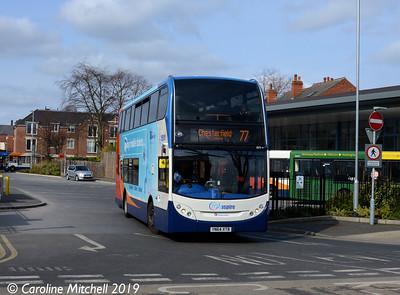 Stagecoach 15175 (YN64XTB), Worksop Bus Station, 1st April 2019