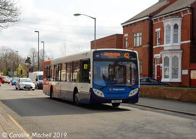 Stagecoach 28620 (FX61CZE), Newcastle Street, Worksop, 1st April 2019