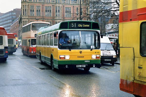 40 RKA881T, Sheffield 14/2/1992