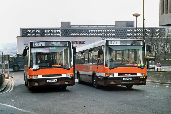 H517YCX and J58GCX, Birmingham 25/2/1992