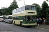 Former West Yorkshire PTE 7142 (CWU 142T), a Leyland Fleetline/Roe H43/33F on schools services at Swansea in the early 1990s.