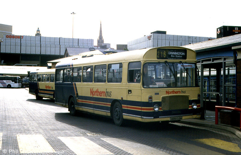 Northern Bus Bristol RESL6L/ECW B44F 2505 (HRN 105N) at Sheffield Bus Station on 4th June 1994. The bus was new to Fylde BC as no. 38.