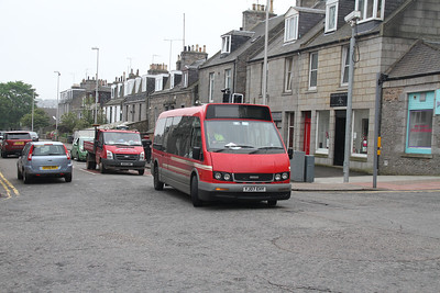 YJ07EHY is an Optare Alero and is seen turning towards Crown Street