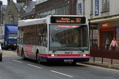 62935 approaches Hamilton Bus Station