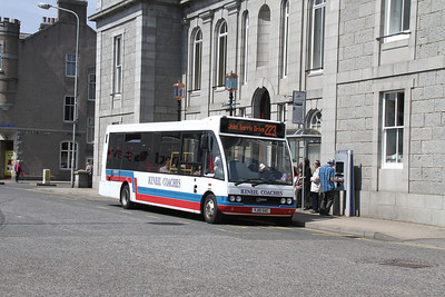 Kineil YJ10 OAC on the Aberdeenshire Council 222/223 Town Service at the Town Hall
