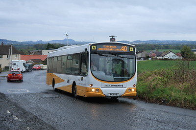 RIG6491 is pretty regular on the 40 through Ratho. 8th May 2021. Ex East Coast Buses (at least...)