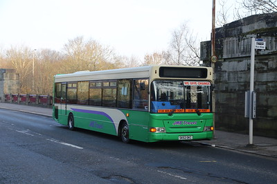 SK52OKC was formerly Lothian 82 and has collapsed in a heap on A721 Bellshill Road