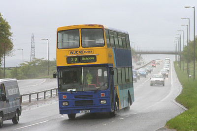 G97PES thunders down the A726 East Kilbride Expressway