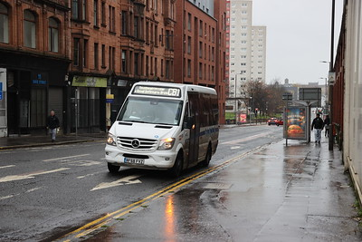 RF68 FVZ is with NATA (Northern Area Transport Alliance) Mercedes Sprintermabob operating SPT service CB1 Townhead Circular seen on Duke Street