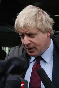 Boris faces the press