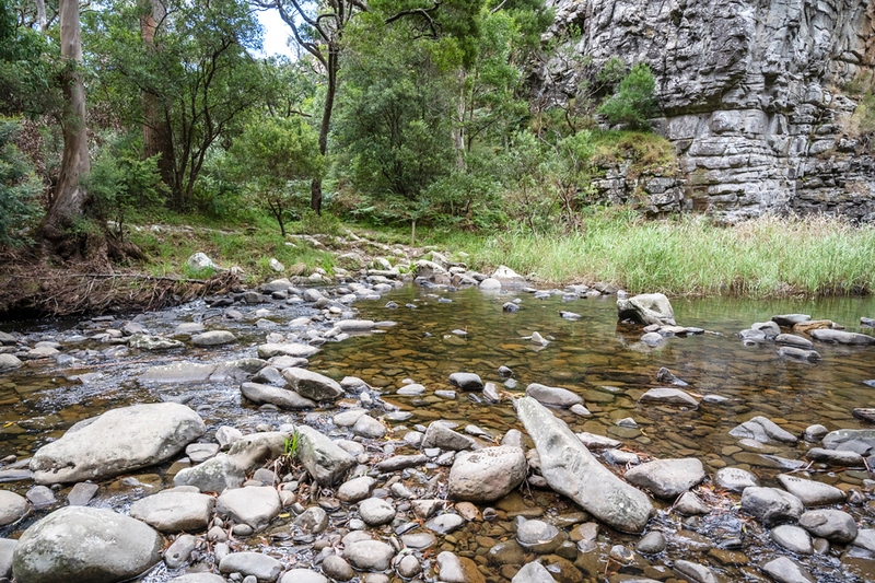 The river crossing at Jebb's Pool