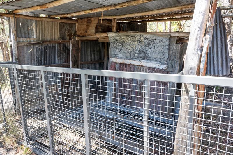 Mistletoe Mine - the closed off shaft
