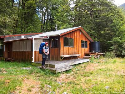 Rachel at West Sabine Hut