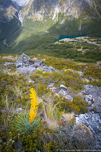 Looking down to Blue Lake