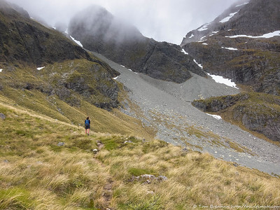 The ascent to Moss Pass looks a iittle improbable