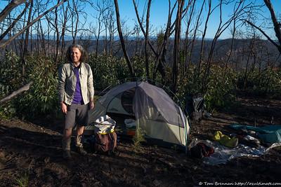 Rachel at our camp near the edge