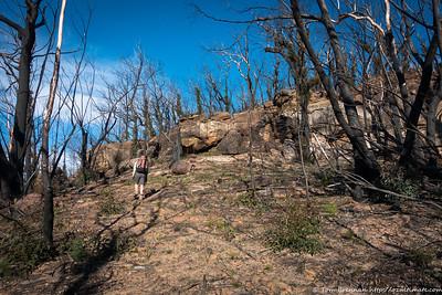 Rachel on the climb up to the ridge