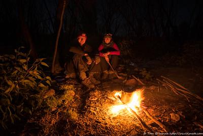 Tom and Rachel around the cheery fire