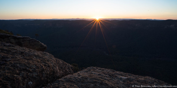 Sunset over the Wanganderry Tableland