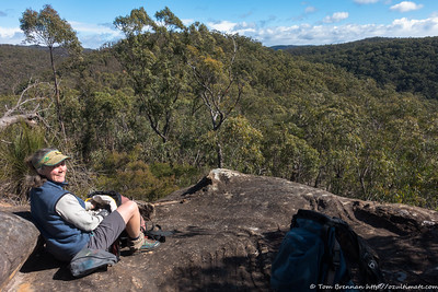 Morning tea on a rocky outcrop